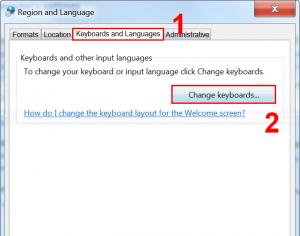 Open Input Languages menu