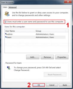 Restore default setting