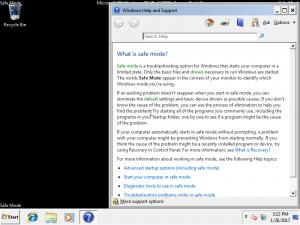 Safe mode on Windows 7