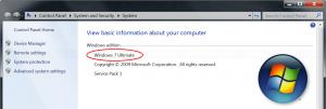Check Windows 7 edition