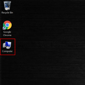 My Computer icon is displayed on Windows desktop
