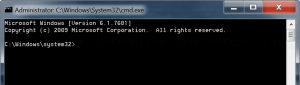 Command Prompt in Administrator mode