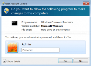 Enter administrator's password