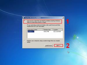 Select OS to repair
