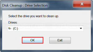 Select Drive to clean
