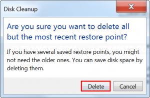 Confirm delete files